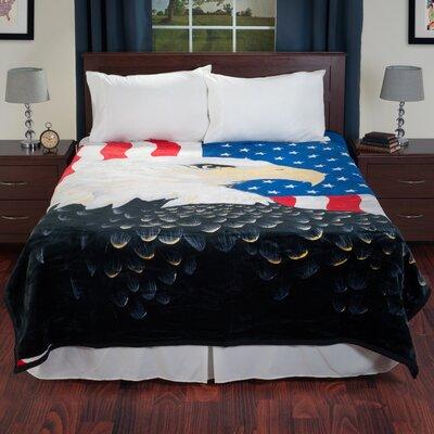 Mink Plush Eagle Blanket