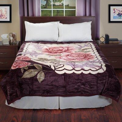 Mink Plush Rose Blanket