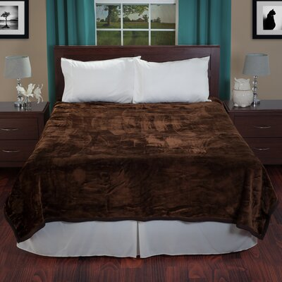Thick Plush Mink Blanket Color: Coffee