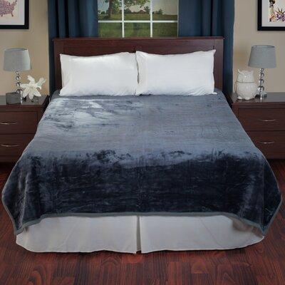 Thick Plush Mink Blanket Color: Grey
