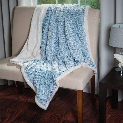 Flower Throw Blanket Color: Blue