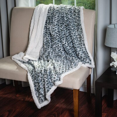 Flower Throw Blanket Color: Brown