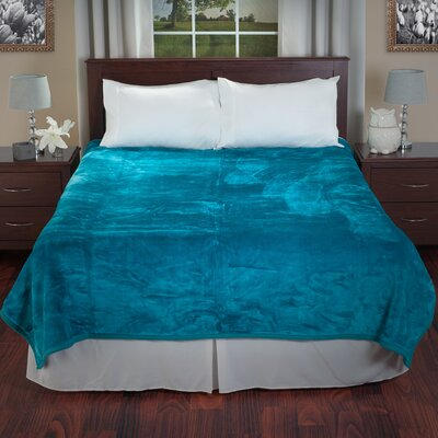 Thick Plush Mink Blanket Color: Aqua
