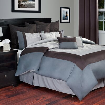 Hotel Comforter Set Size: King, Color: Grey