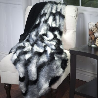 Long-Haired Throw Color: Black