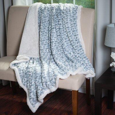 Flower Throw Blanket Color: Grey