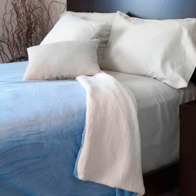 Super Soft Fleece Blanket Color: Blue, Size: King