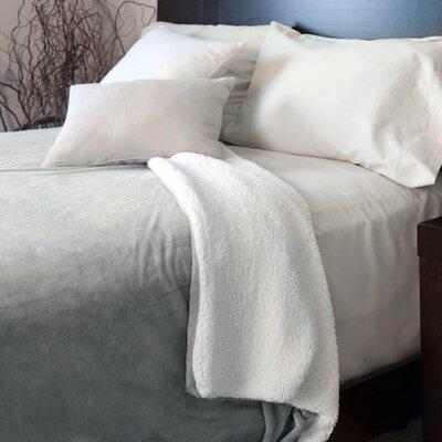 Super Soft Fleece Blanket Color: Grey, Size: King