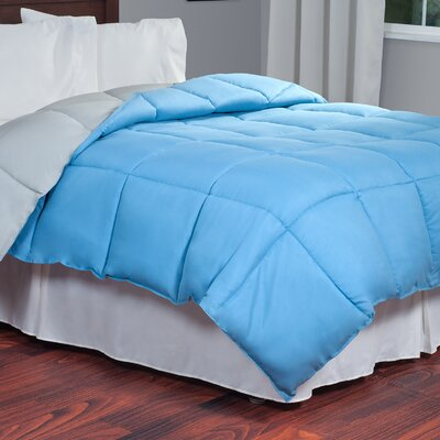 All Season Down Alternative Comforter Color: Blue / Grey, Size: Queen