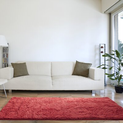 High Pile Coral Area Rug Rug Size: Runner 26 x 5