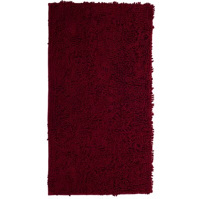 Hazarika High Pile Shag Accent Burgundy Area Rug