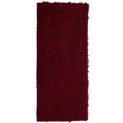 High Pile Burgundy Area Rug Rug Size: Rectangle 26 x 5