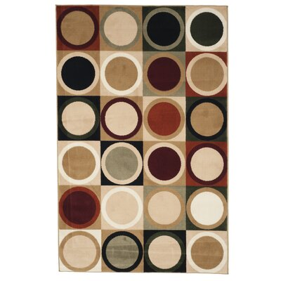Circles Multi Area Rug Rug Size: Rectangle 5 x 76