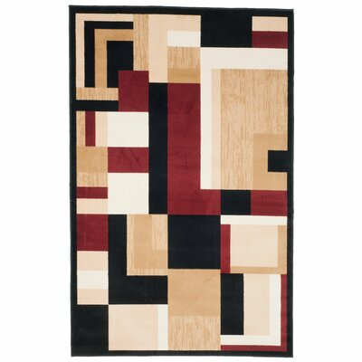 Modern Block Area Rug Rug Size: Rectangle 4 x 6
