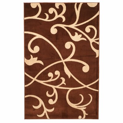 Berber Leaves Brown Area Rug Rug Size: 8 x 10