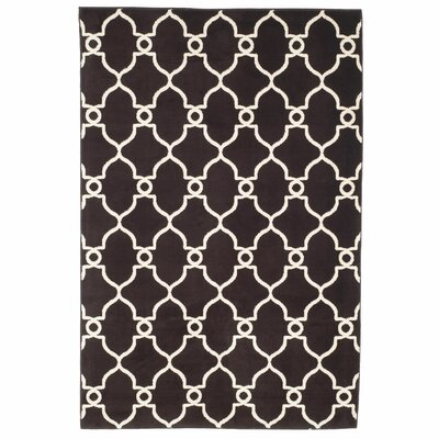 Lattice Brown Area Rug Rug Size: Rectangle 5 x 76