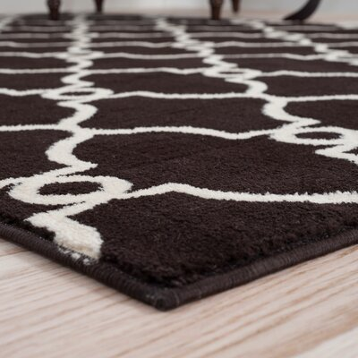 Lattice Brown Area Rug Rug Size: Runner 18 x 5