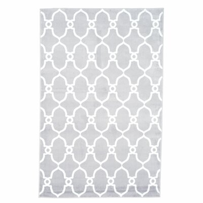 Lattice Gray Area Rug Rug Size: Rectangle 33 x 5