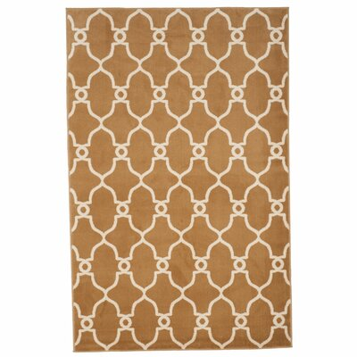 Lattice Tan Area Rug Rug Size: Rectangle 4 x 6