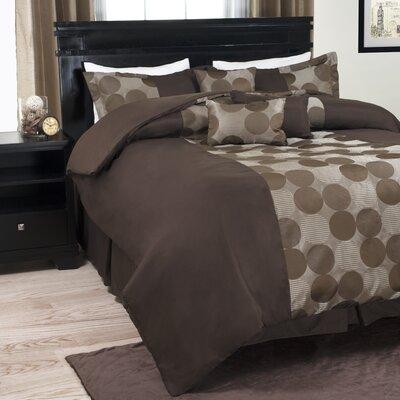 Circles 7 Piece Comforter Set Size: King