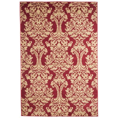 Oriental Red and Gold Area Rug Rug Size: Rectangle 5 x 77
