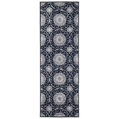 Royal Damask Black Area Rug Rug Size: 18 x 5