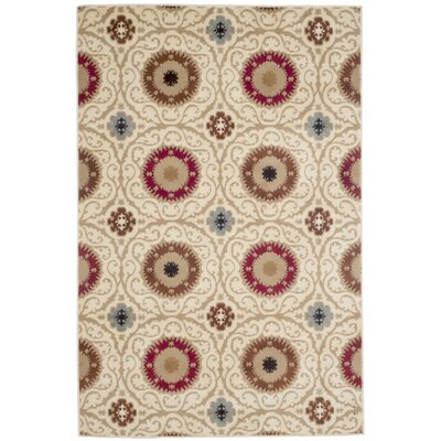 Royal Damask Cream Area Rug Rug Size: 4 x 6