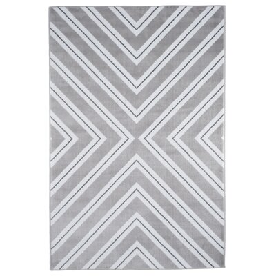 Kaleidoscope Gray/White Area Rug Rug Size: Rectangle 8 x 10