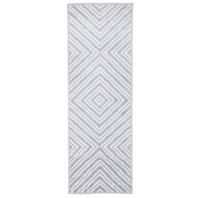 Kaleidoscope Gray/White Area Rug Rug Size: Runner 18 x 5