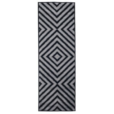 Kaleidoscope Black & Gray Area Rug Rug Size: Rectangle 18 x 5