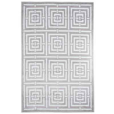 Athens Gray/White Area Rug Rug Size: Rectangle 5 x 77