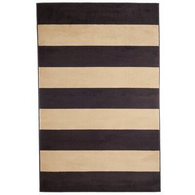 Autumn Stripes Brown & Tan Area Rug Rug Size: Rectangle 5 x 77
