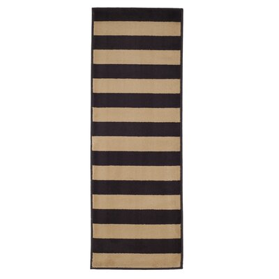 Autumn Stripes Brown & Tan Area Rug Rug Size: Rectangle 18 x 5