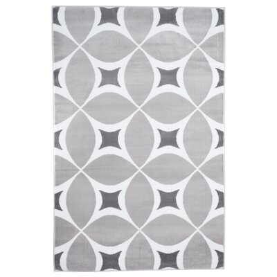Jane Gray/White Area Rug Rug Size: 4' x 6'