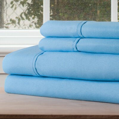 Series 1200 Microfiber Sheet Set Size: King, Color: Blue