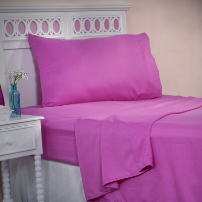 Series 1200 Microfiber Sheet Set Size: Twin XL, Color: Pink