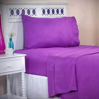 Series 1200 Microfiber Sheet Set Size: Twin XL, Color: Purple