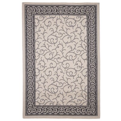 Ornate Vine Cream Indoor/Outdoor Area Rug