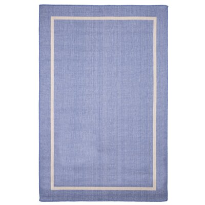 Border Blue Indoor/Outdoor Area Rug Rug Size: Rectangle 5 x 76