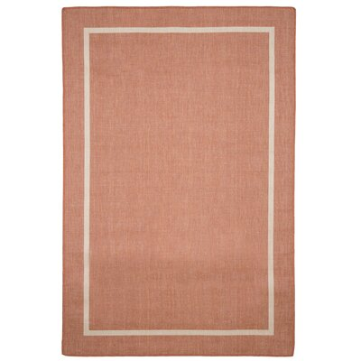 Border Orange Indoor/Outdoor Area Rug Rug Size: Rectangle 8 x 10