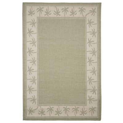 Green/Beige Indoor/Outdoor Area Rug Rug Size: Rectangle 5 x 8