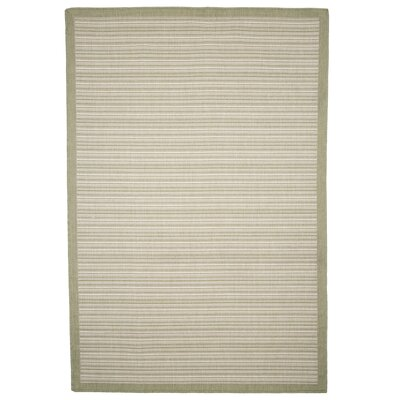 Casual Stripe Green Indoor/Outdoor Area Rug