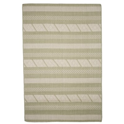 Aztec Stripe Green Indoor/Outdoor Area Rug