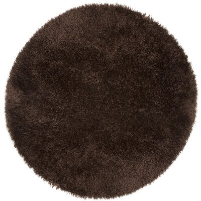 Chocolate Area Rug Rug Size: Round 5