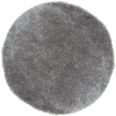 Gray Shag Area Rug Rug Size: Round 5