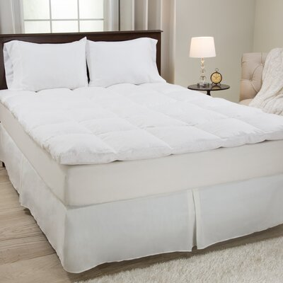Duck Feather 233 Thread Count Mattress Topper Size: King