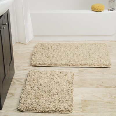 Gallia 2 Piece Bath Rug Set Color: Ivory