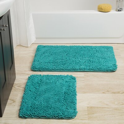 Gallia 2 Piece Bath Rug Set Color: Seafoam