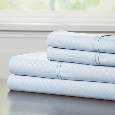 90 GSM Embossed Sheet Set Color: Blue, Size: King