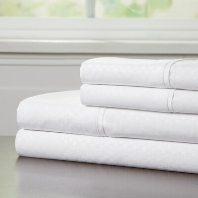 90 GSM Embossed Sheet Set Color: White, Size: King